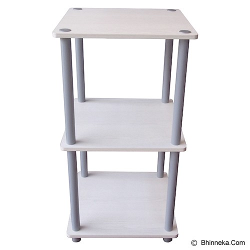 FUNIKA 3 Tier Mini Square Shelf [11213] - White - Rak Mini